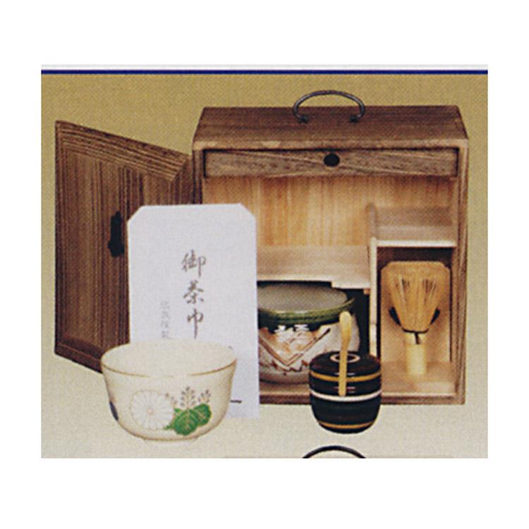 茶道具 8寸5分 色紙箱 焼桐●写真は使用例です。商品名以外のものは別売です。 色紙箱(茶道具 通販 )