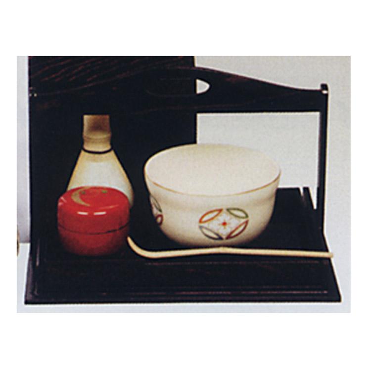 茶道具 手提水屋 溜 掻合塗 手提水屋(茶道具 通販 )