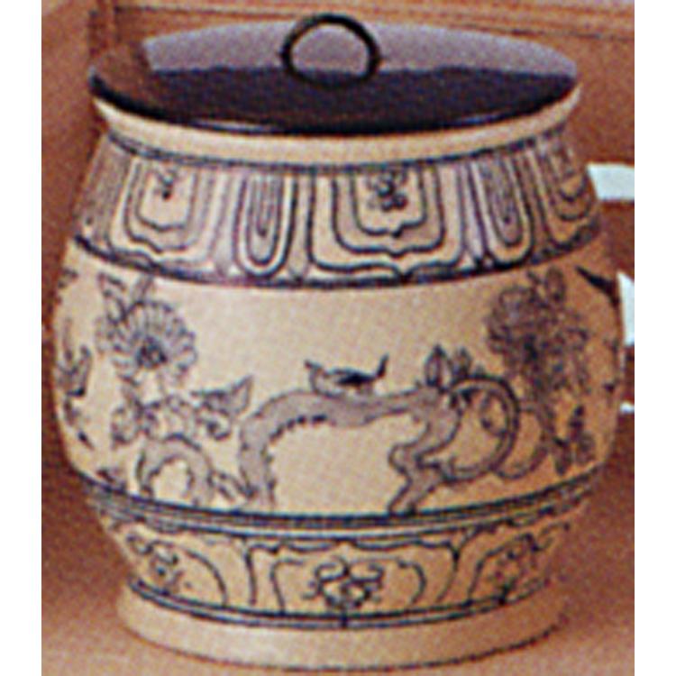 茶道具 安南水指 遊船紋 越南製 水指(茶道具 通販 )