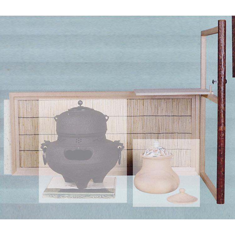 茶道具 台目棚 有楽好写 (自在棚) ●商品名以外のものは別売です。 小林幸斎 台目棚(茶道具 通販 )