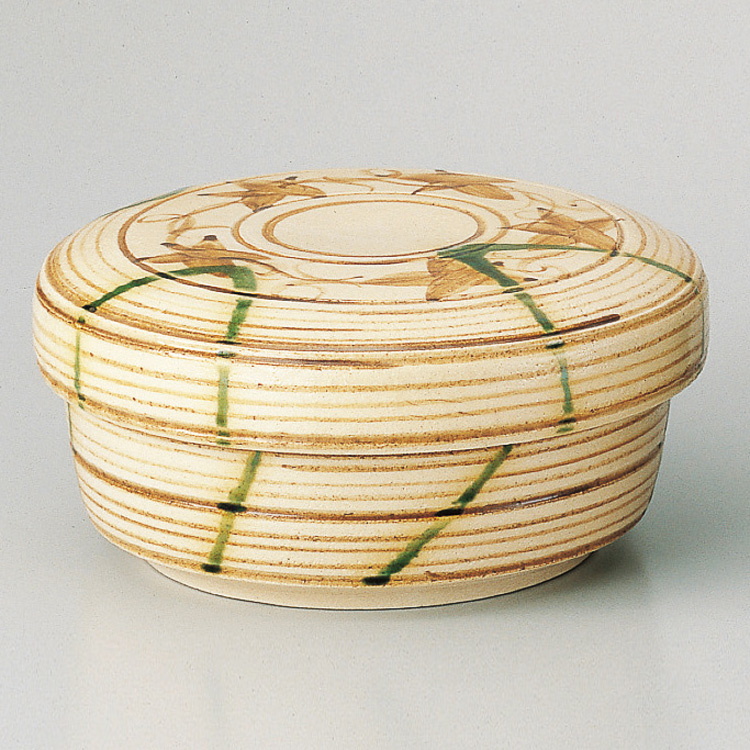 茶道具 食籠 弥七田織部 壱陶 菓子器(茶道具 通販 )