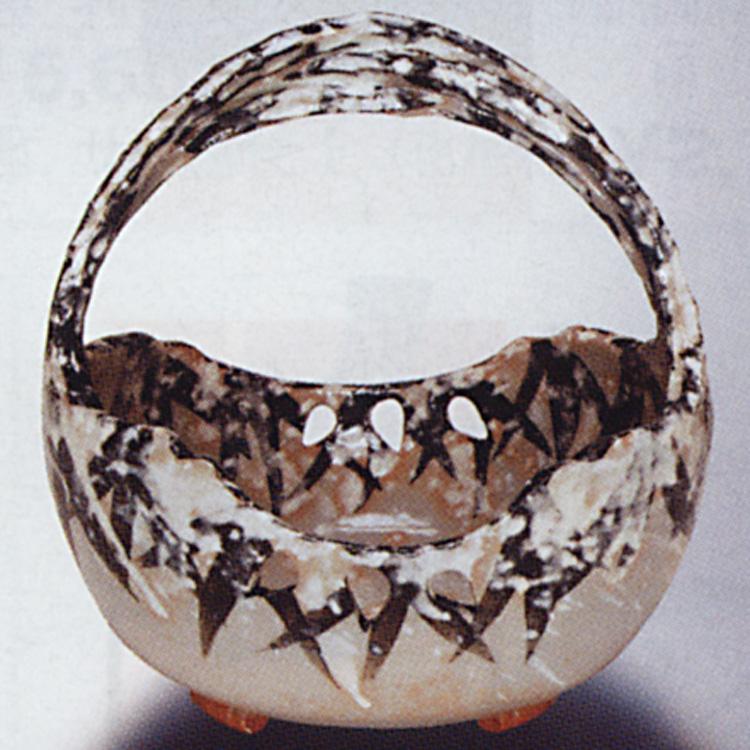 茶道具 手鉢 乾山写 雪笹 太仙窯 茶道具(茶道具 通販 )