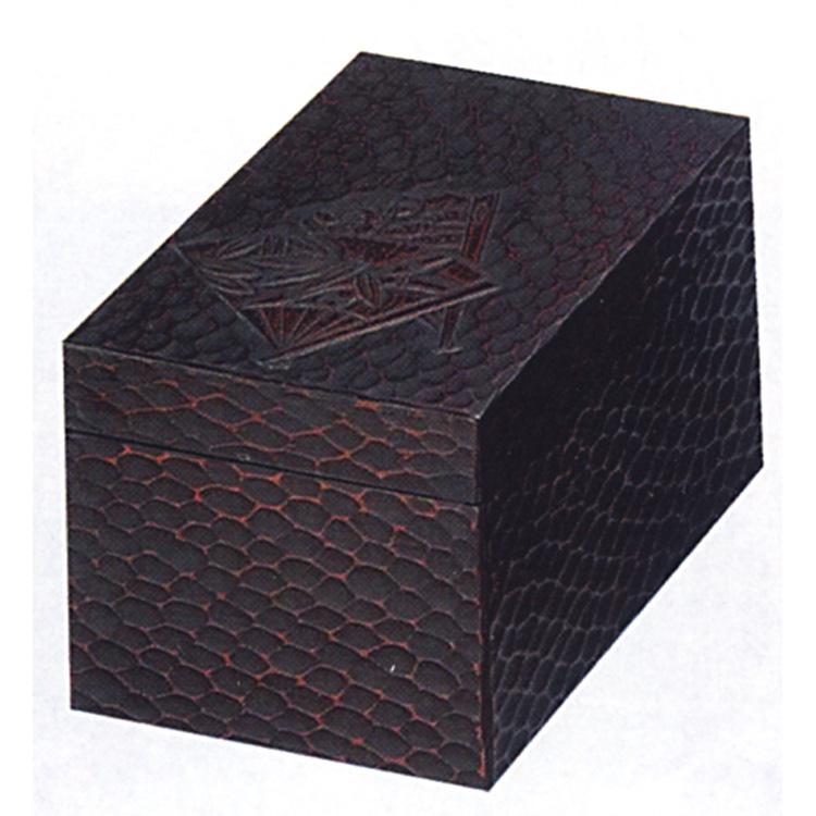 茶道具 茶箱 鎌倉彫 扇面 茶箱 (茶道具 通販 )