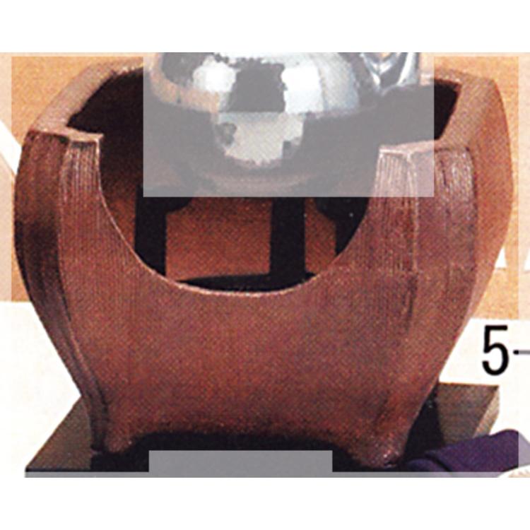 茶道具 四方紅鉢 信楽 (コード穴付) ●写真は使用例です。商品名以外のものは別売です。 楽斎 風炉(茶道具 通販 )