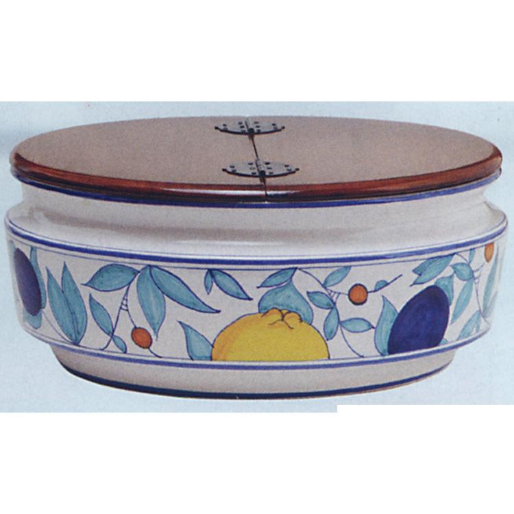 茶道具 平水指 果実模様 拭漆割蓋 ミルタモリジ 水指(茶道具 通販 )