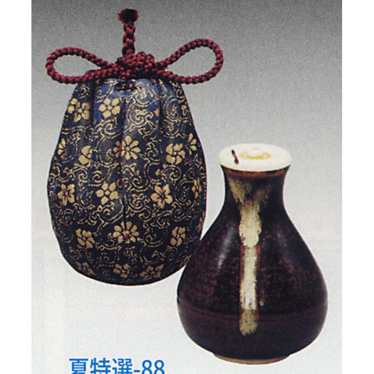 茶道具 茶入 龍光院 名物写 仕服:正法寺緞子 陶若窯(茶道具 通販 )