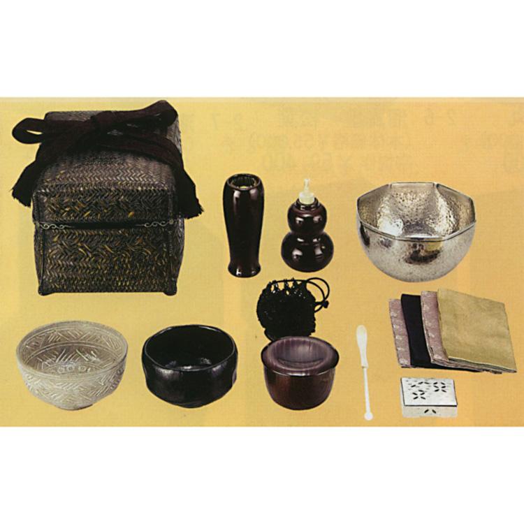 茶道具 御所籠セット(八角建水・牙芋茶杓・仕服・相生袋付) 和田菁竺 籠ものセット(茶道具 通販 )