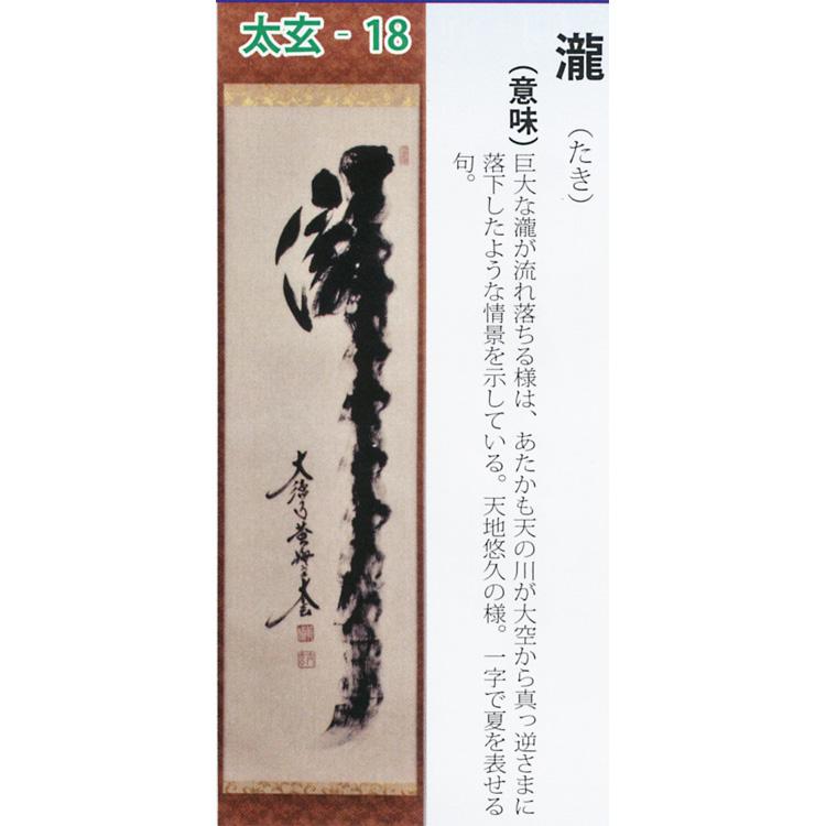 茶道具 掛け軸 軸 一行物 「瀧」 大徳寺黄梅院 小林太玄師