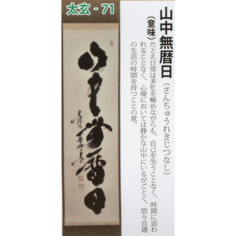 茶道具 掛け軸 軸 一行物 「山中無暦日」 大徳寺黄梅院 小林太玄師