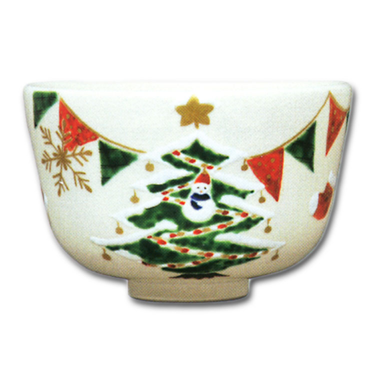 茶道具 送料無料 抹茶茶碗 茶碗 クリスマスツリー 山本蓼茶道 抹茶椀 抹茶 茶器 茶椀 茶わん ちゃわん ギフト 千紀園