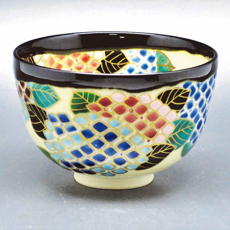 茶道具 抹茶茶碗(まっちゃちゃわん) 茶碗 掛分 紫陽花 伊坂 清香