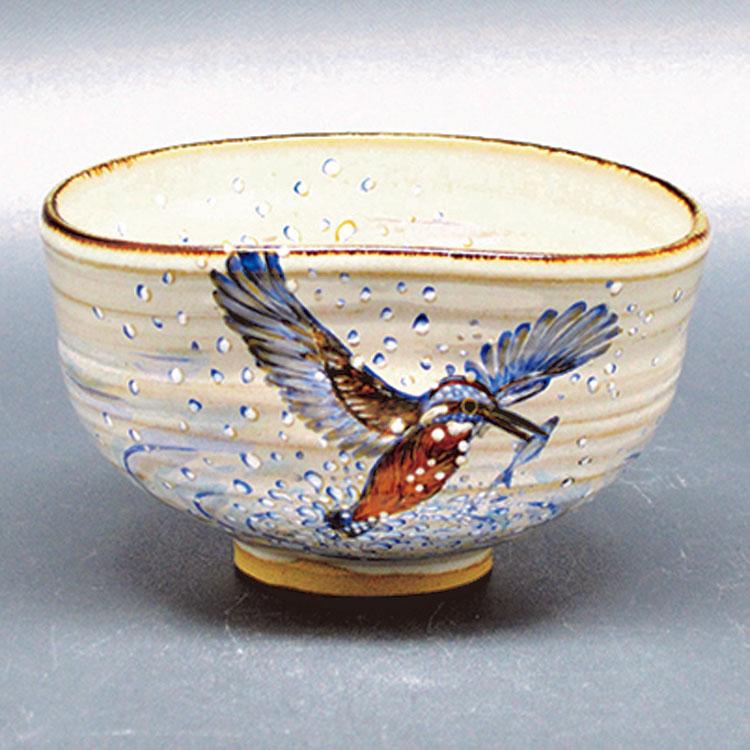 茶道具 抹茶茶碗(まっちゃちゃわん) 茶碗 灰釉 翡翠 中村 良二