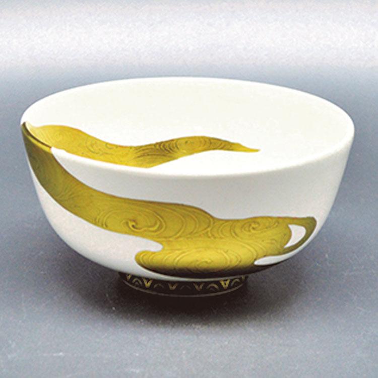 茶道具 抹茶茶碗(まっちゃちゃわん) 茶碗 白釉 流水 山岡 善高