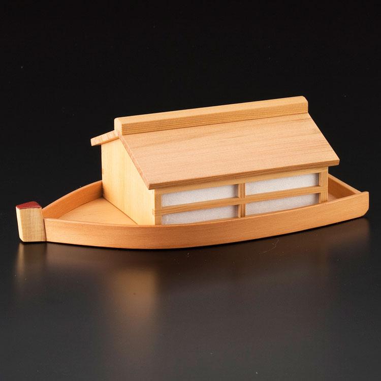 茶道具 菓子器(かしき) 杉干菓子器 屋形船