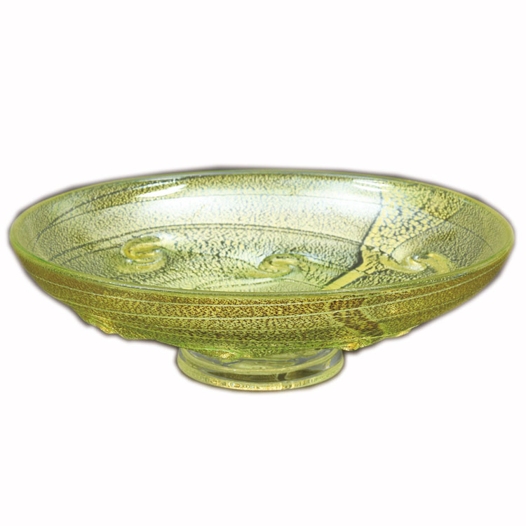 茶道具 平茶碗(ひらちゃわん) 平茶碗 義山 銀彩 貝紋 緑色 (冷茶用) 菊地 正博