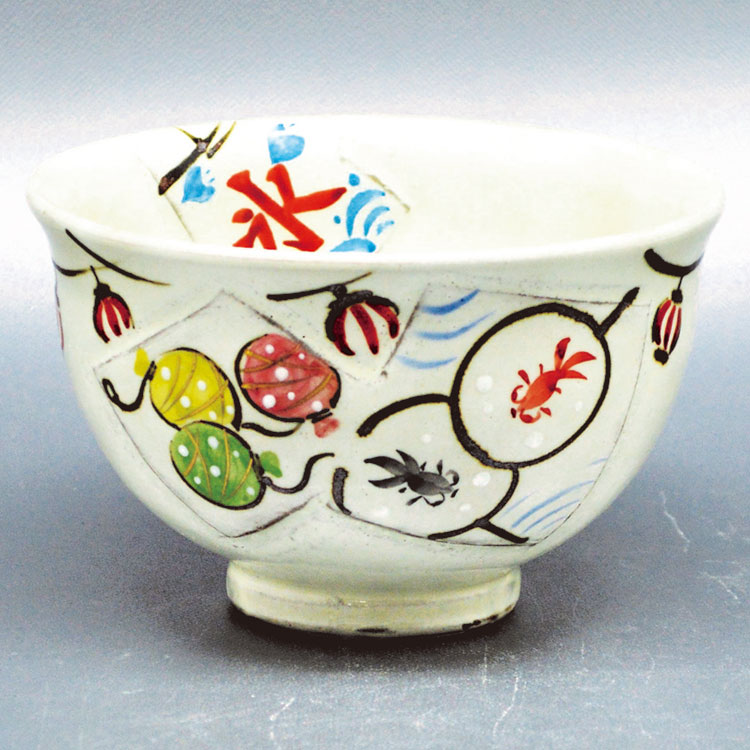 茶道具 抹茶茶碗(まっちゃちゃわん) 茶碗 粉引 縁日 中村 与平
