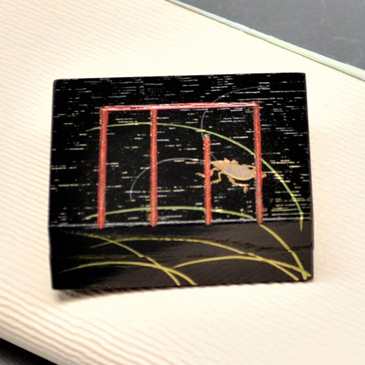 茶道具 香合(こうごう) 香合 源氏香図 鈴虫 中村 湖彩
