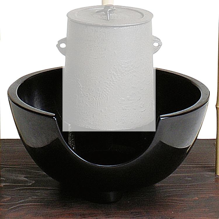 茶道具 風炉紅鉢 黒 尺〇 宗伴