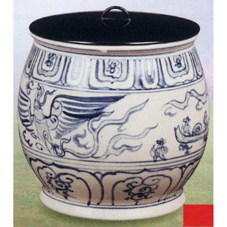 茶道具 水指 染付 遊船紋 越南製 (茶道具 通販 )