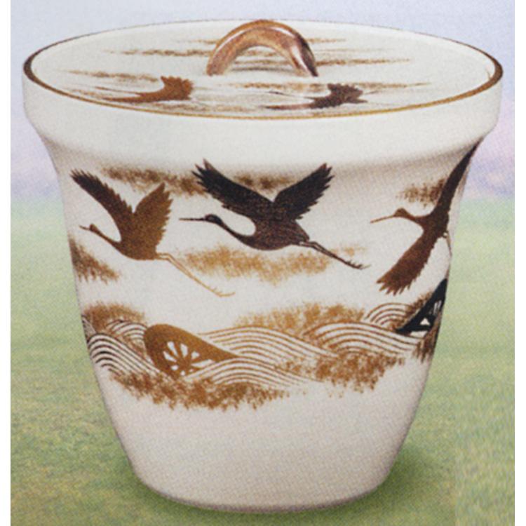 茶道具 水指 仁清 鶴に波車 御室窯 (茶道具 通販 )