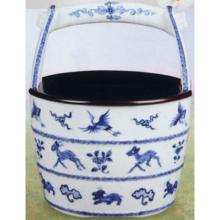 茶道具 手桶水指 染付 寧波 割蓋付 景徳鎮 王懐英 (茶道具 通販 )