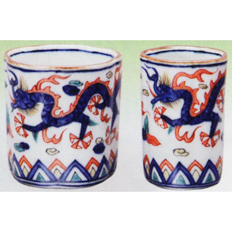 茶道具 盆巾巾筒 色絵 梅形 高野昭阿弥 (茶道具 通販 )