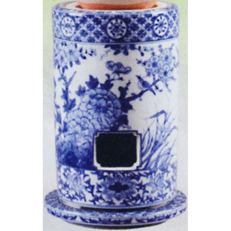 茶道具 涼炉 染付 花鳥 高野昭阿弥 (茶道具 通販 )