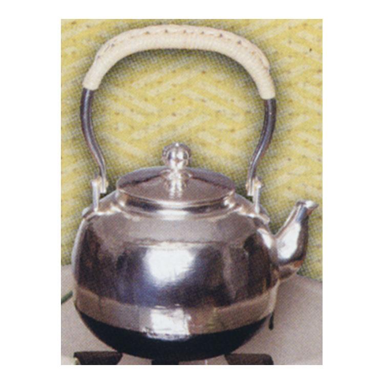 茶道具 銀瓶 丸型 五合 (茶道具 通販 )