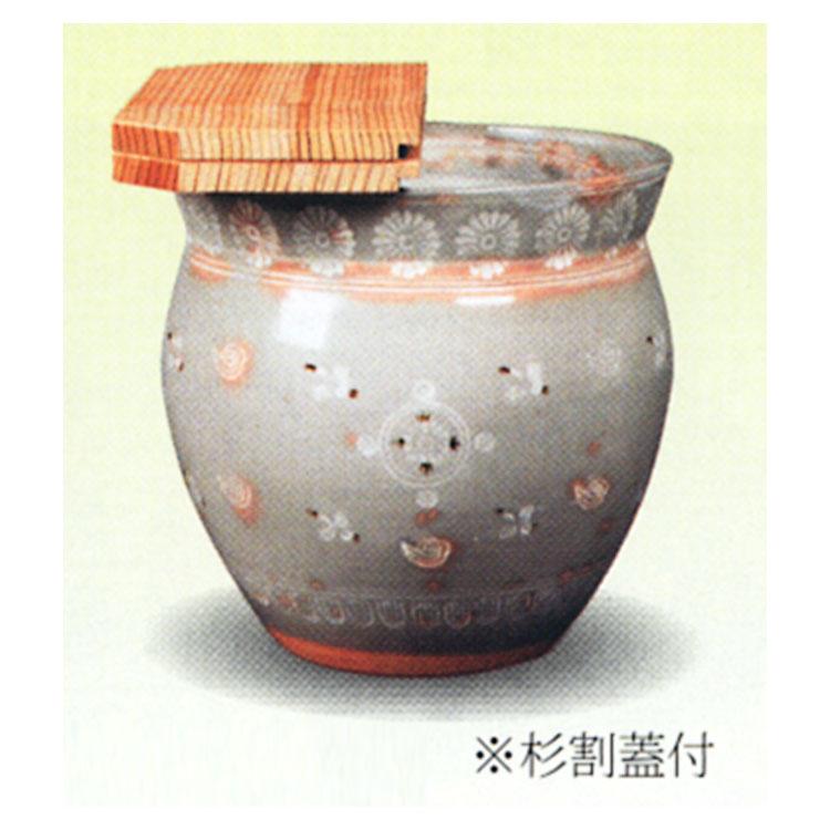 茶道具 水屋瓶 雲鶴 大 (杉割蓋付) 宝寿