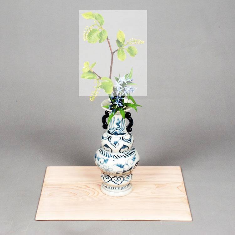 茶道具 花入花入 染付 長呂木 越南製