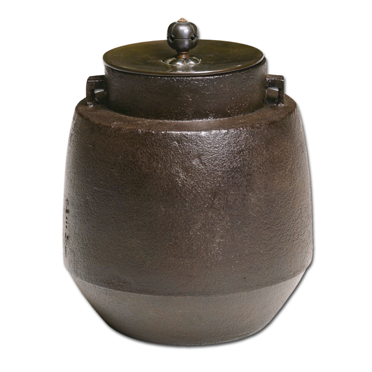 茶道具 風炉釜 釣釜 羽子板釜 十二代加藤忠三郎