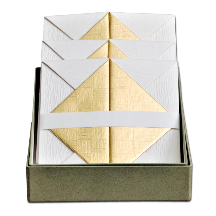 茶道具 檀紙折据三枚組 山崎吉左衛門