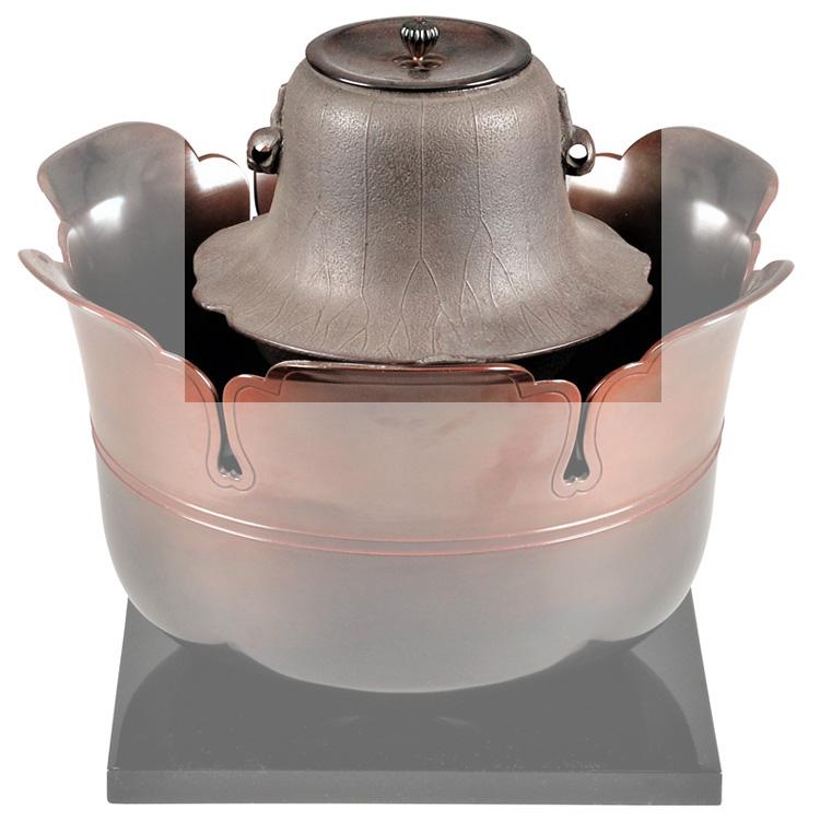 茶道具 風炉釜(ふろがま) 荷葉釜 川辺 憲一