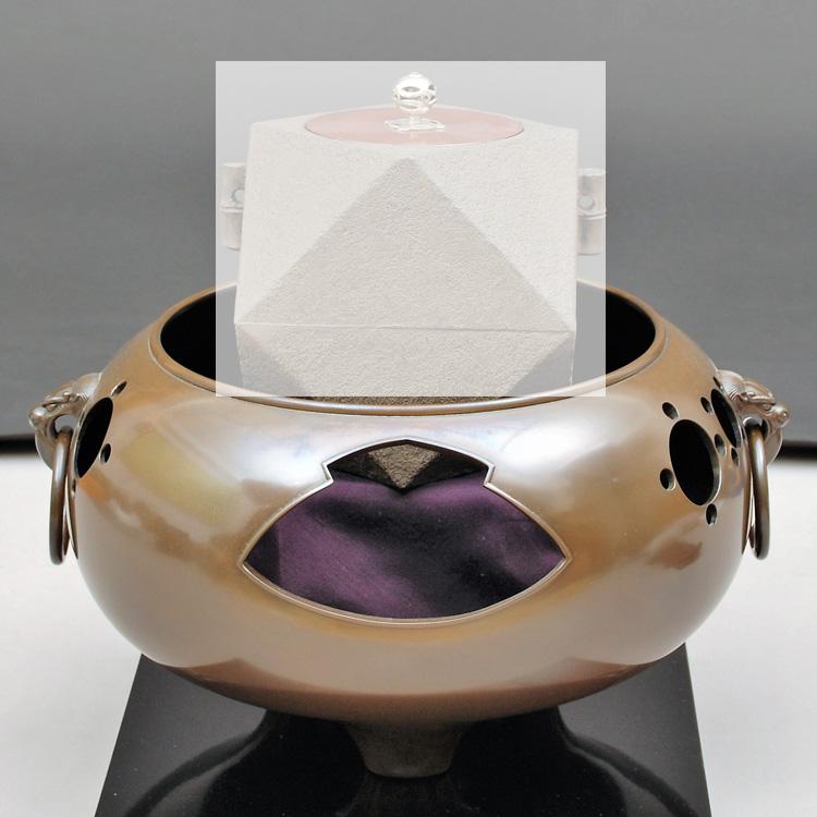 茶道具 風炉(ふろ) 玉縁風炉 般若 勘渓