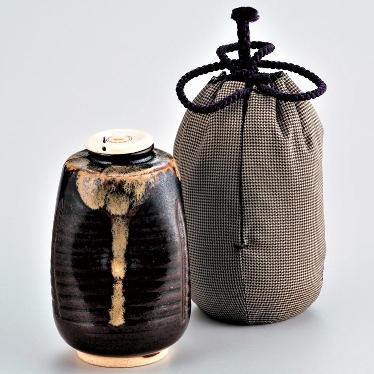 茶道具 茶入(ちゃいれ) 名物茶入 利休瀬戸 陶若窯