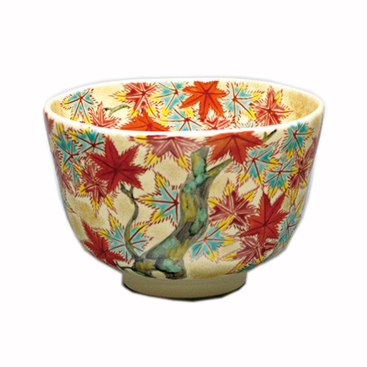 茶道具 抹茶茶碗(まっちゃちゃわん) 茶碗 仁清 色彩紅葉 加藤 如水 作