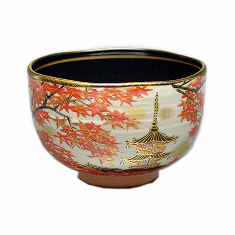 茶道具 抹茶茶碗(まっちゃちゃわん) 茶碗 乾山 清水寺紅葉 壱休窯