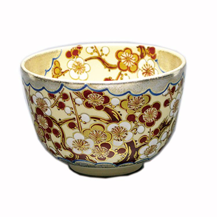 茶道具 抹茶茶碗(まっちゃちゃわん) 茶碗 仁清 銀雲 梅 水出 宋絢 作