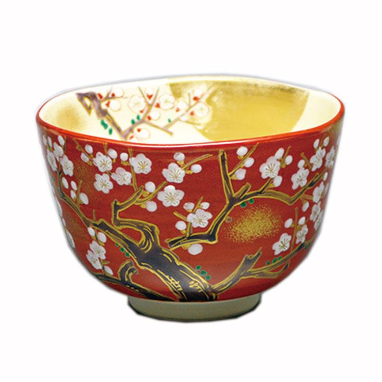 茶道具 抹茶茶碗(まっちゃちゃわん) 茶碗 紅釉 梅月 壱休窯