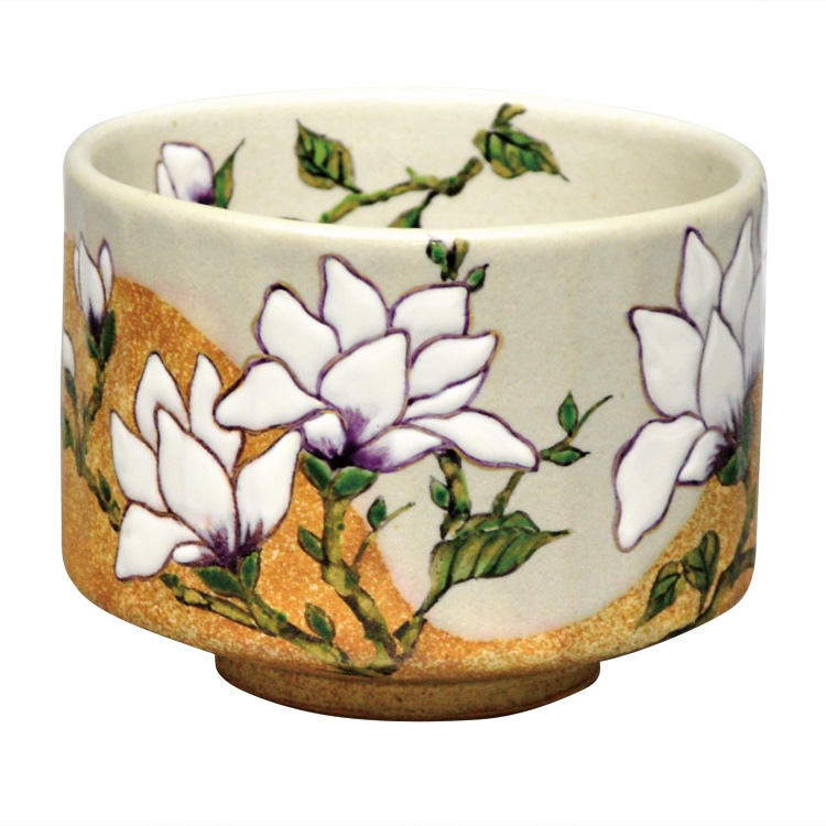 茶道具 抹茶茶碗(まっちゃちゃわん) 茶碗 掛分 木蓮 中村 秋峰