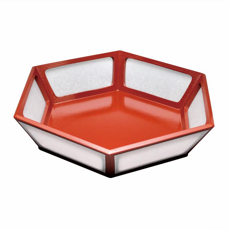 茶道具 菓子器(かしき) 雪洞型菓子器 朱