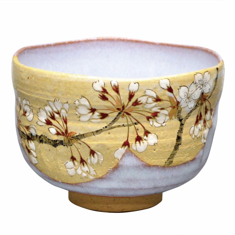 茶道具 抹茶茶碗(まっちゃちゃわん) 茶碗 掛分 桜 山岡 善高