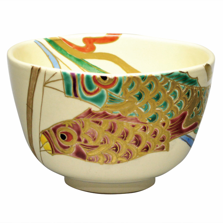 茶道具 抹茶茶碗(まっちゃちゃわん) 茶碗 仁清 鯉のぼり 壱休窯