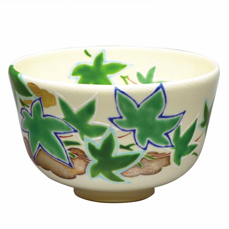 茶道具 抹茶茶碗(まっちゃちゃわん) 茶碗 色絵 青楓 山本 蓼