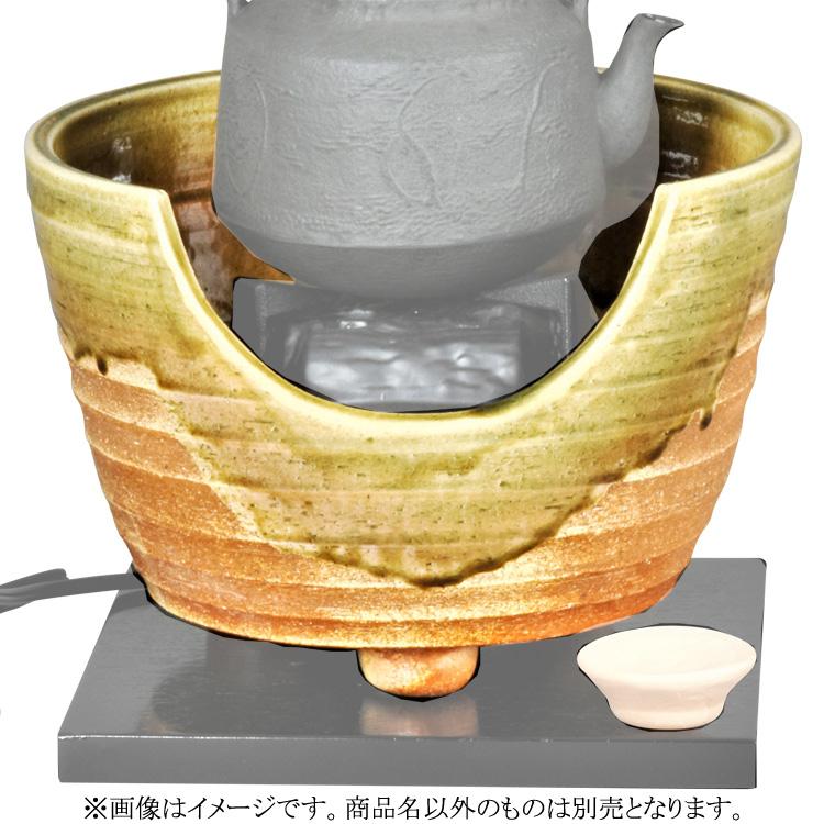 茶道具 風炉(ふろ) 紅鉢 信楽 コード穴付 ※画像はイメージです。商品名以外は別売りとなります。 西尾 香舟