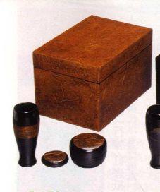 茶道具 利休茶箱 和紙貼(P三点セット)
