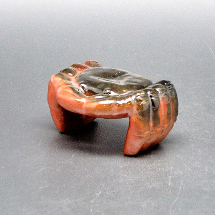 茶道具 蓋置 赤楽 蟹 川崎和楽 蓋置(茶道具 通販 )