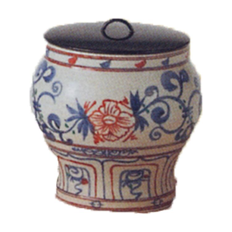 茶道具 水指 紅安南 黒石窯 (茶道具 通販 )