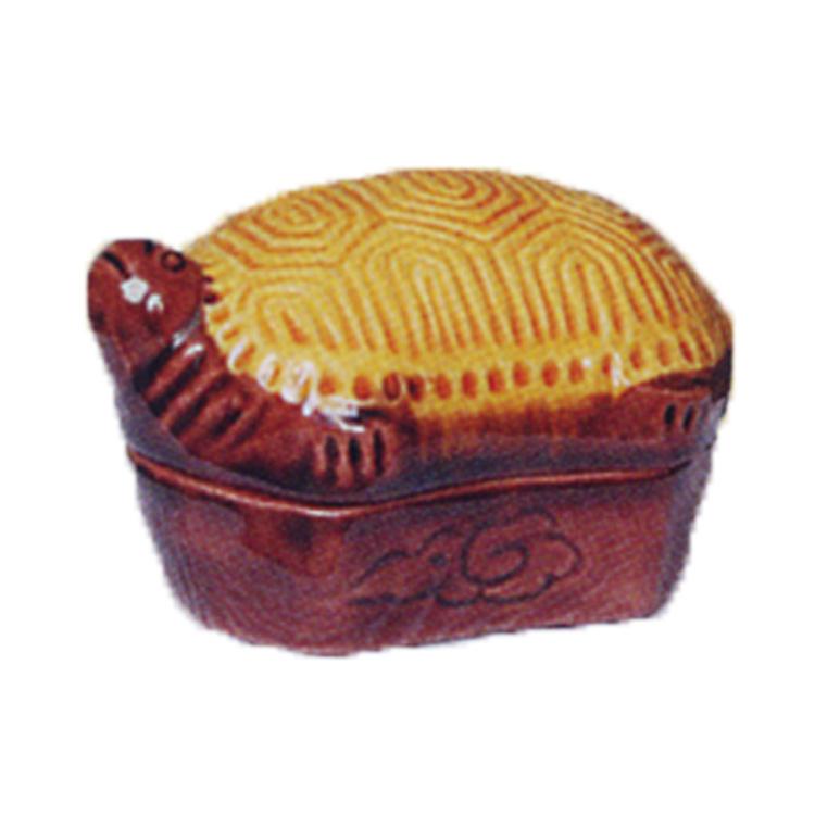 茶道具 香合 交趾 分銅亀 横石嘉助 (茶道具 通販 )
