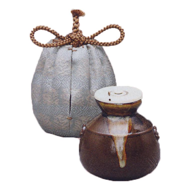 茶道具 茶入 侘助 中興名物写 私服:龍詰銀欄 陶若窯 (茶道具 通販 )